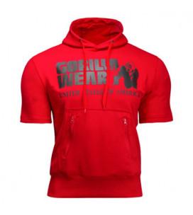 Boston Short Sleeve Hoodie Red