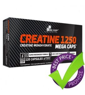 Creatine Mega Caps 1250 120cps