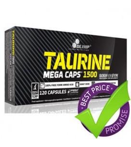 Taurine Mega Caps 1500 120cps