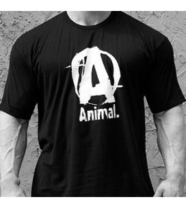 Animal T-Shirt Logo A Black