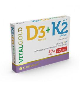 VitaGold D3+K2 40tab