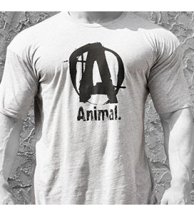 Animal T-Shirt Logo A Grey